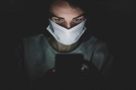 Nurse using phone